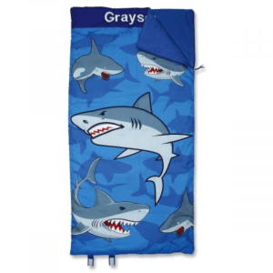 Personalized Sharks Sleeping Bag thickly plumped for softness