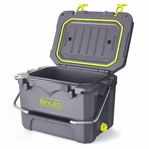 REYLEO Cooler, High-end Portable Rotomolded Cooler, 30-Can Capacity, 21 Quart, 3-Day Ice Retention, Bear Resistance, Camping Cooler, Ice Chest