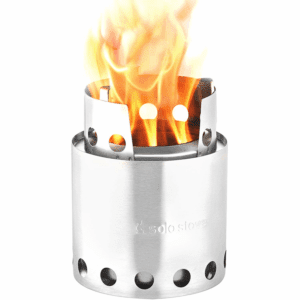 Solo Stove Lite Portable Outdoor Wood Burning Camping Backpacking Camp Stove, Silver