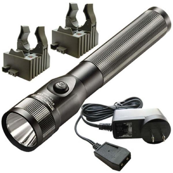 Streamlight Stinger C4 LED Rechargeable Flashlight with Piggyback Charger, Black