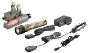 Streamlight Strion HL LED Flashlight with 120V AC/12V DC PiggyBack Charger - Black