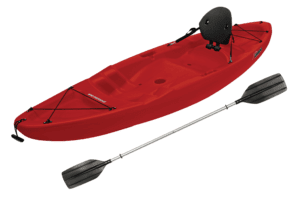 Sun Dolphin Patriot 8.6 Sit-on Recreational Kayak Red, Paddle Included