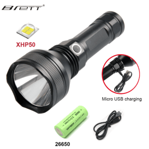 Super Bright Tactical Flashlight, XHP50
