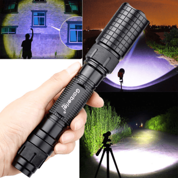 Tactical Police 500000lumens T6 Led 5 Modes 18650 Flashlight Military