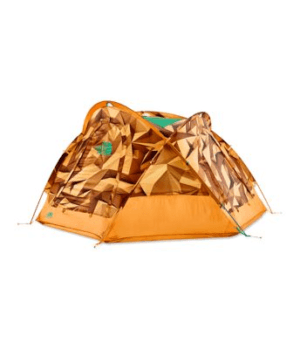 The North Face Homestead Domey 3 Tent: 3-Person 3-Season Storm Blue/Papaya Orange, One Size