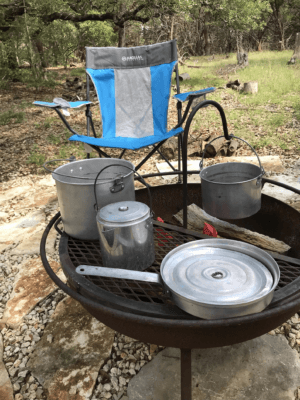 Vintage camp set (like solo stove campfire kit)
