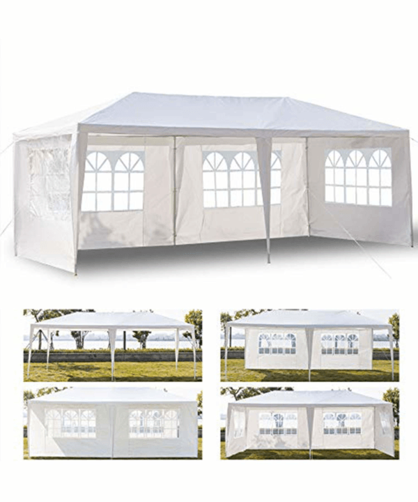 Yirind 3 x 6m Four Sides Waterproof Tent with Spiral Tubes White